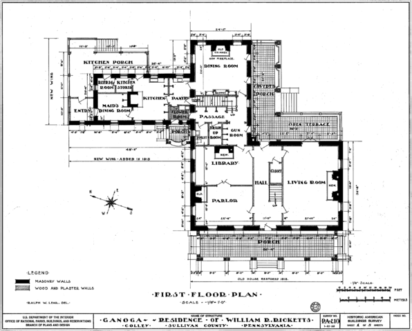 Figure 1: Floorplan of the Clemuel Ricketts Mansion
